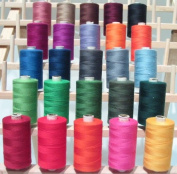 New ThreadNanny 25 Large Spools of 3-PLY Polyester threads - Assorted Colours