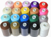 20 Assorted Spools of Polyester Sewing Thread 1000 Yards Each (Spools H