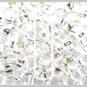Crystal Silver Lined 3x5.5mm Long Drop Miyuki Japanese Glass Seed Beads 25 Gramme Tube