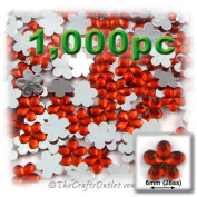 1000pc Rhinestones Mini Flower 6mm flatback Ruby Red RED