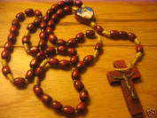 Rosarybeads Divine Mercy Icon Rosary Rosaries Beads Wood Rope