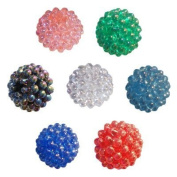 144 Multi-Coloured Round Berry Beads