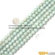 Gem-Inside Round Amazonite Strand Beads 38cm Jewellery Making Beads