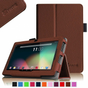 Fintie Premium PU Leather Case Cover for 18cm Tablet inclu. NeuTab N7 Pro / NeuTab N7S Pro 7, iRULU eXpro X1 7, Alldaymall A88X 7, Chromo Inc 7, Dragon Touch Y88X 7, NPOLE Tablet 7, Brown