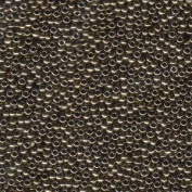 Dark Bronze Miyuki Japanese round rocailles glass seed beads 11/0 Approximately 24 gramme 13cm tube