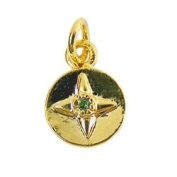 Alexa's Angels Circle Green May/August Birthstone Charm