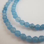 Blue Jade Beads - Faceted Round 4mm