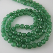 Green Jade Beads - Faceted Round 4mm