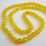 Yellow Jade Beads - Faceted Round 4mm