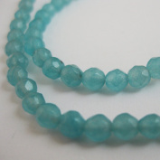 Sky Blue Jade Beads - Faceted Round 4mm