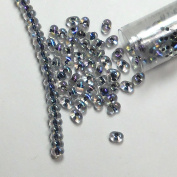 "Noir Lined Crystal Ab New Miyuki Berry Bead 2.5x4.5mm Seed Bead Glass 22 Gramme Tube Approx 500 Beads Bb283"" """