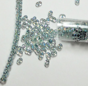 "Seafoam Lined Crystal Ab Rainbow New Miyuki Berry Bead 2.5x4.5mm Seed Bead Glass 22 Gramme Tube Approx 500 Beads Bb1"" """