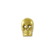 Tibetan Brass Skull Bead 14x9mm