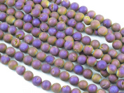 Druzy Agate Round 10mm 37pcs 15''strand Coating Purple Colour Finding Charms Necklace Bracelet Jewellery Making Beads
