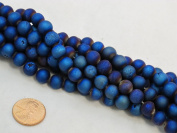 37pcs Druzy Agate 10mm 15''strand Blue Colour Finding Charms Necklace Bracelet Beads