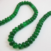 Green Jade Beads - Smooth Rondelle 6x4mm