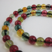 Multi Coloured Quartz Beads - Smooth Round 6mm