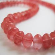 Watermelon Quartz Beads - Smooth Rondelle 6x4mm
