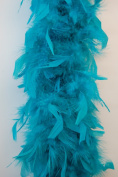80 Gramme Chandelle Feather Boa - JADE GREEN 2 Yards