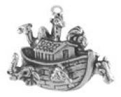 Sterling Silver Full Noah's Ark Charm - Item #16738