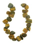 Tennessee Crafts 1452 Semi Precious Tiger Eye Teardrop Chips Beads, 20cm , Yellow