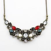 New Arrival Wholesale Costume Jewellery Vintage Graceful Rhinestone Statement Necklace
