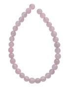 Tennessee Crafts 1372 Semi Precious Pink Rose Quartz Faceted Beads, Round, 6mm