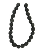 Tennessee Crafts 1579 Semi Precious Obsidian Black Nature Shape Beads, 8 by 10mm