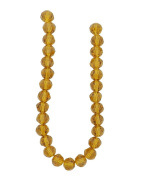 Tennessee Crafts 3011 Glass Beads, Round, Amber, 8mm