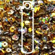 Crystal Magic Orange-grey 2.5x5mm 1 ONE Hole Fringe Beads Czech Glass Seed Beads 20 Gramme Tube