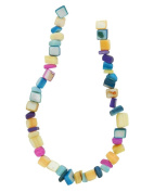 Tennessee Crafts 1589 Semi Precious Multi Shell Beads, Multicolor, 5 by 8mm