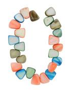 Tennessee Crafts 1592 Semi Precious Multi Shell Tear Drop Nuggets Multicolor