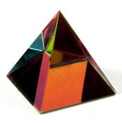 40mm Crystal Pyramid Statue Cut Glass Oranament MY-0223