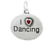Sterling Silver I Love Dancing Charm - Dance Charm