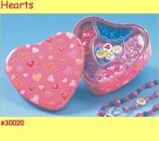 Can of Beads, Heart Tin By Nex