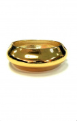 New Gold Tone Sleek High Polished Classic Bangle Cuff
