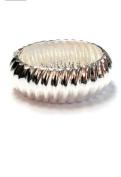 New Ridged Classic Silver Tone Hinged Bangle Cuff Bracelet