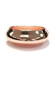 New Sleek High Polished Rose Gold Tone Classic Fashion Bangle Cuff