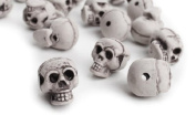36 Plastic Skull Shaped Beads with Hole Perfect for Beading, Crafting, and Embellishing