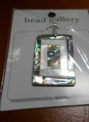 Bead Gallery 40X30MM Swirl Rectangle Natural Shell Pendant