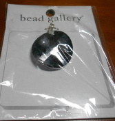 Bead Gallery 28MM Flat Round Silver Back Glass Pendant