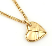 Hip-Hop Iced Gold Tone Heart Pendant Necklace Free 60cm chain