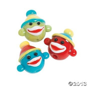 Glass Sock Monkey Lampwork Beads - 24 pcs
