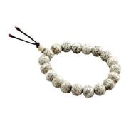 Lotus Seed Wrist Mala White Beads