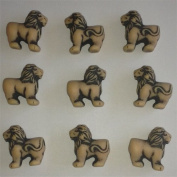 100 Lion Beads (Antique Sand)