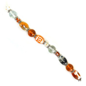 Fiona SUP03-1 Hand Painted Dog and Bones Dog Lover Bead Strand, 18cm