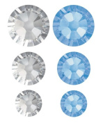 . 90 Piece FlatBack Crystals Value Pack, Light Sapphire by Create Your Style