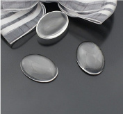 Clear OVAL Shape Transparent Domed Magnifying Glass Cabochon Cover