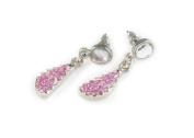 Viva Beads Pink Paradise Earrings | Dangled Post | - Handmade Clay Beads Jewellery 05903022