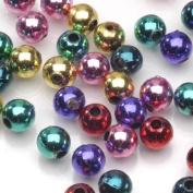 Metallic Beads 6mm Round Asst 450pc/pkg
